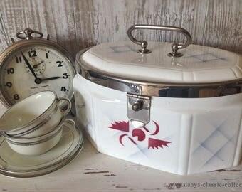 vintage pastry box ancient ceramic can brocante artdéco storage box aerography
