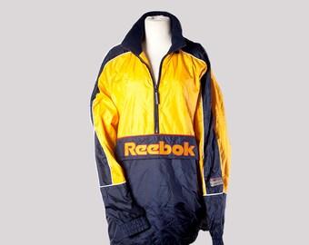 90s hip hop clothing•Vintage windbreaker•Reebok windbreaker•Reebok jacket•vintage bomber jacket•90s mens windbreaker•Miauhaus mens outerwear