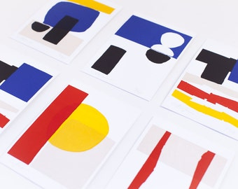 Limited Edition Letterpress Art Print Set of 5