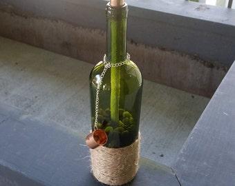 Wine Bottle Tiki Torch