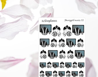 Planner Stickers Movies / TV Emoji Hmonggirl