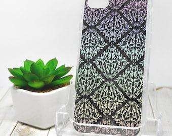 Rainbow Damask iPhone 7 Case - Black Cool Urban Grunge Damask Pattern - iPhone 7 Plus Case