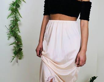 Peach Slip Skirt