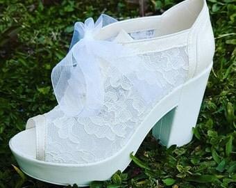 Wedding Shoes, Lace Shoes, Bridal Lace Shoes, Handmade Shoes, Bridal Heels, Bridal Flats, Bridesmaid Shoes,Women's Lace Shoes,Bridal,Wedding