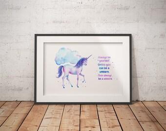 Kids Unicorn Watercolor-Nursery Unicorn Art-Unicorn Watercolor Print-Unicorn Watercolor-Unicorn Art-Nursery Unicorn-Unicorn Nursery Prints