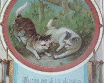 SALE Victorian Scrap (Cats)