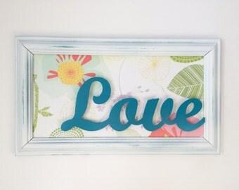 Colorful Love Repurposed Frame
