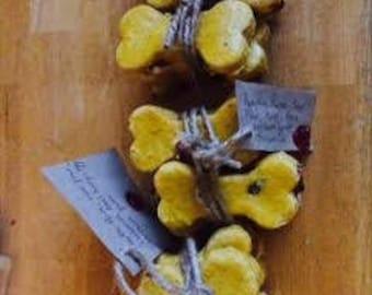 Sweet potato & cranberry bones