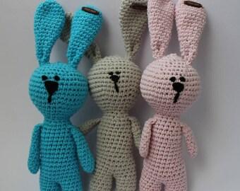 Crochet Bunny Amigurumi Rabbit Baby Gift Pink Bunny