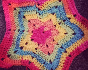 Handcrochet baby star blanket