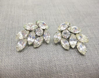 Gorgeous Vintage Rhinestone Clip-on Earrings