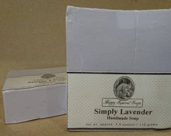 Simply Lavender Handmade Soap,  Natural Skincare, Homemade Soap, UK, Bar Soap, Cold Process Soap, Exfoliating