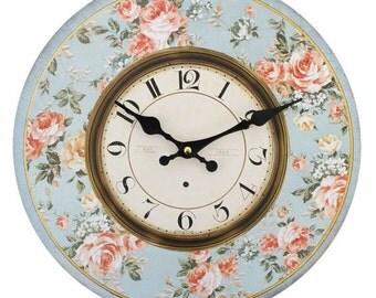 Duck-Egg Shabby Chic clock