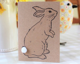 Easter Card - The Inquisitive Rabbit