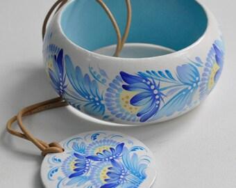 Ukraine Etno Bangle and Pendant Ukrainian ethnic style bracelet,wooden Jewelry Bracelet and Pendant ,Ukraine Jewelry,Ukraine gift,Patriotic