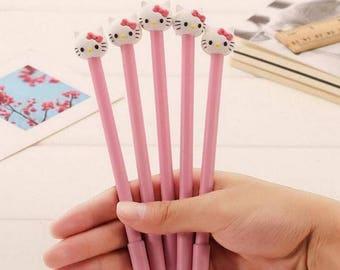 4 Pc Set ~ Sweet Pink Hello Kitty Gel Pens ~ Cute Pens, Kawaii Pen, Pen Set, Hello Kitty Pen, Planner Accessories, Writing Tool, Stationery