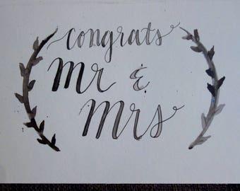 Congratulations Wedding Card | Handpainted Watercolor Cards