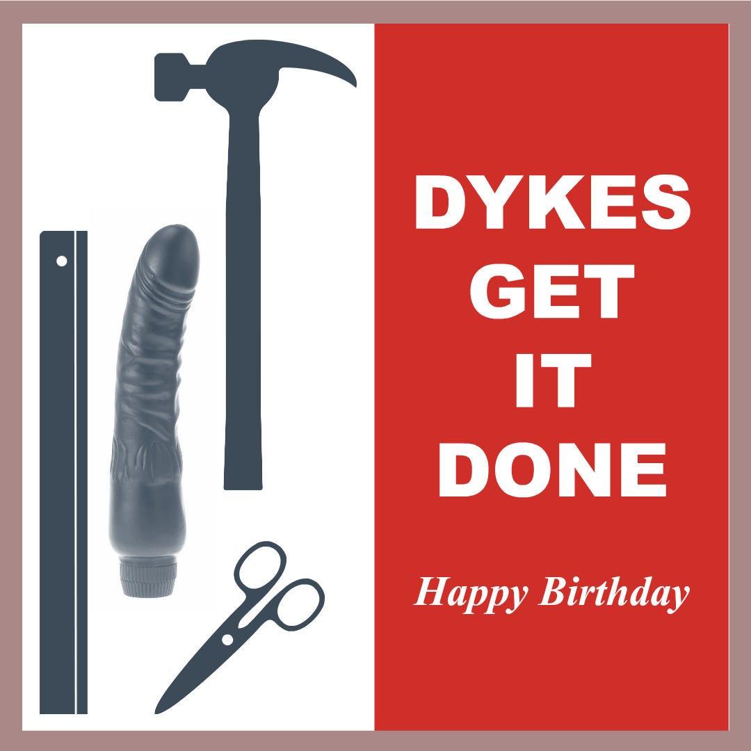 Funny rude birthday card pdf printable blank card LGBT birthday – Birthday Card Pdf