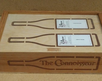 The Connoisseur Wood Wine Gift Box, Wood Wine Box, Wood Box, Wine Box