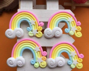Kawaii Resin Clay Rainbow Embellment