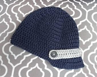 Brimmed Baby Hat // Baby Boy Hat // Baby Gift // Photo Prop