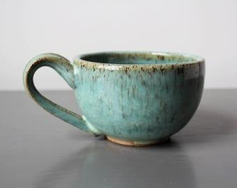 Ceramic Latte Mug Teal