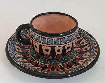 espresso cup and saucer  , historical design cup , tea set , coffee mug