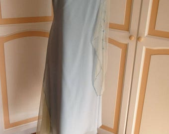 Baby Blue Vintage Together Evening Dress size 18