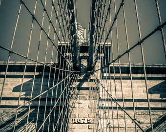Lines of Brooklyn Bridge