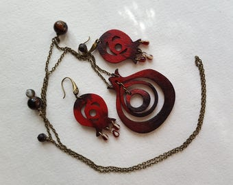 Red Pomegranate Jewellery Set