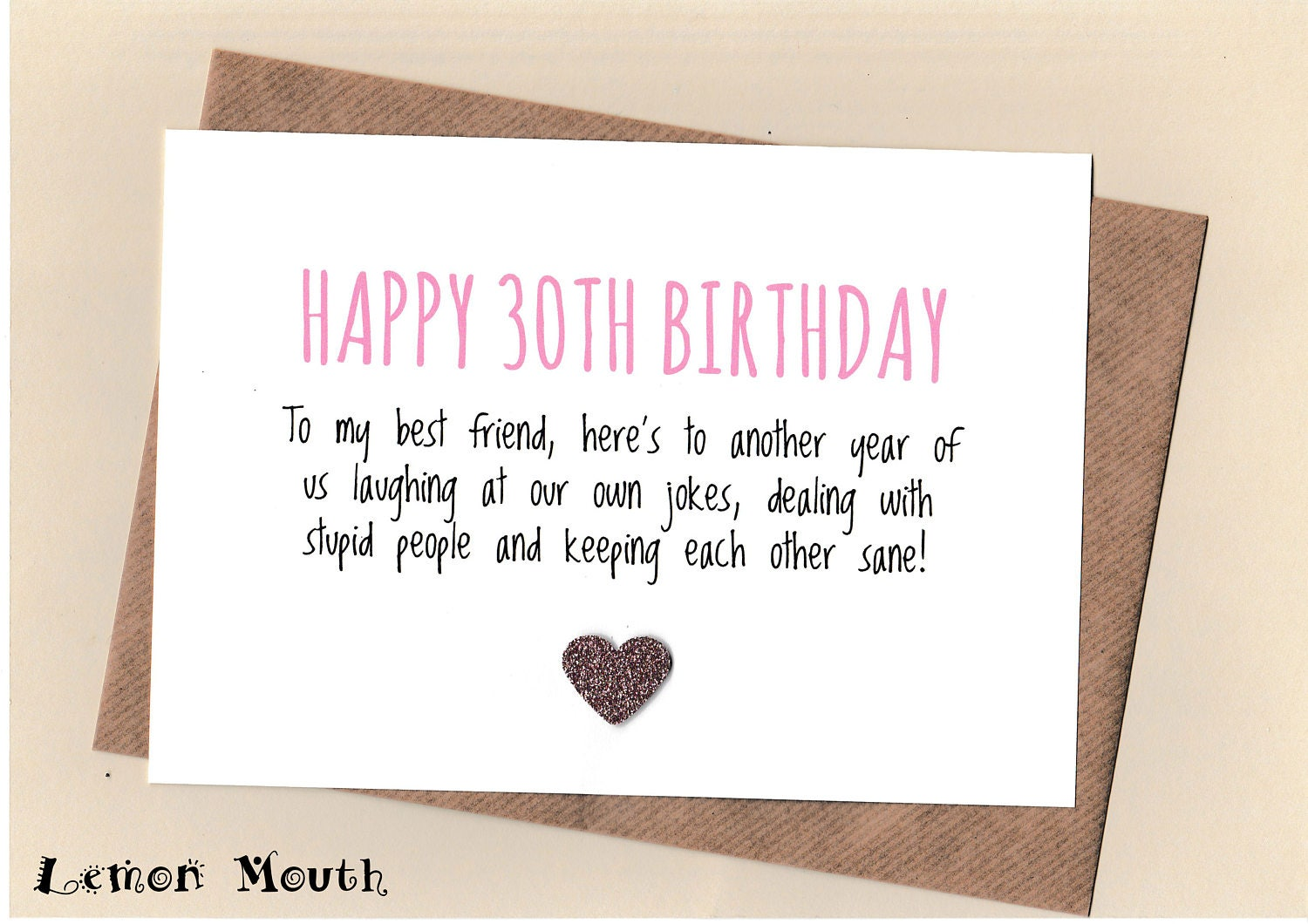 Funny best friend 30th birthday card bestie love friends description best friend 30th birthday card kristyandbryce Choice Image
