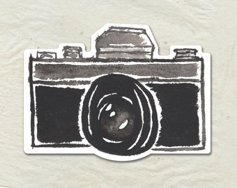 Camera Decal - Camera Vinyl Sticker - Watercolor Camera Decal - Vintage Camera Decal - Car Window Decal - Laptop Sticker - Tumbler Decal