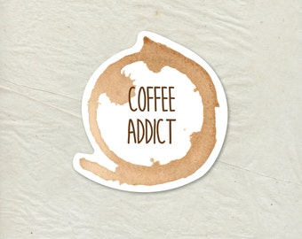 Coffee Decal - Coffee Vinyl Sticker - Coffee Stain Decal - Coffee Stain Sticker - Coffee Sticker - Laptop Sticker - Tumbler Decal