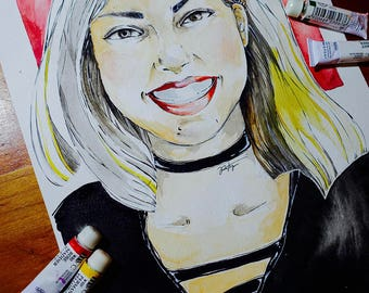 Custom Portrait (hardcopy, watercolor)