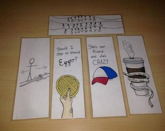 Stranger Things Bookmark Set of 5