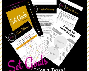 Goal Setting Starter Pack! Passion & Purpose Discovery, Worksheets, PDF, Printable