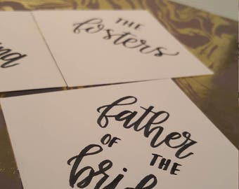 3x3 Custom Hand-lettered placecards