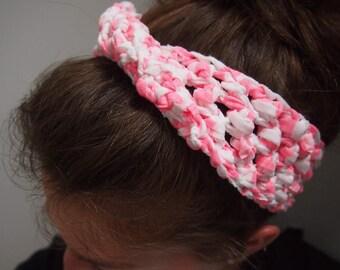 Beachy Bums Headband in Pink Stripe