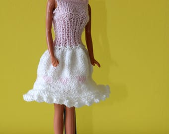 Dress Barbie, Barbie clothes, Barbie dress, Barbie clothes, with Hat and handbag.