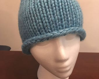 Baby Blue Small Knitted Hat