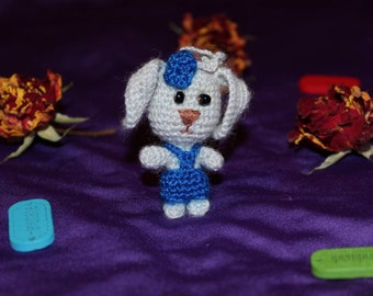 Bunny Jack keychain knitting toy Day of friends soft toy the manual work