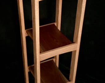 Handcrafted Oak Display Shelf with Walnut/Cherry Accents