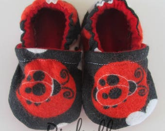 Red Ladybug Baby Shoes, Baby Shoes, Soft Sole Baby Girl Shoes, Girl Baby Shower Gift