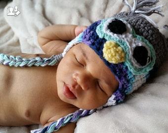 Infant Crochet Owl Hat 0-3 Months