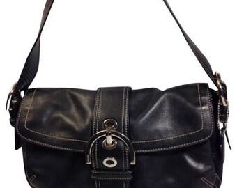Coach Black Soho Leather Hobo Buckle Shoulder Bag