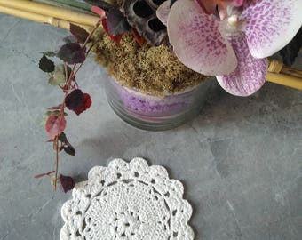 Viscose crochet Doily  Vintage look hand crochet handmade table mats great for home wedding decor
