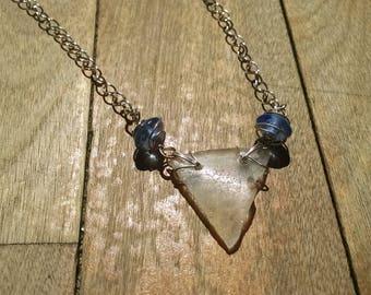 Maine Sea Glass Necklace Triangle