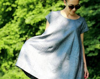 Wide dress, shirts, dress one size, dress, dress, dress, dress comfortable, linen dress with pockets, linen dress, largely