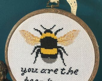 bumble bee subversive cross stitch