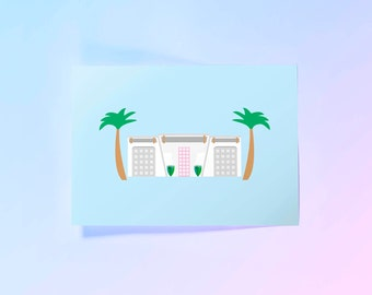 Palm Springs House Print